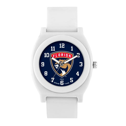 Florida Panthers Analog Fan White Unisex Watch