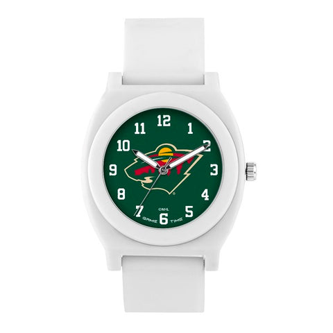 Minnesota Wild Analog Fan White Unisex Watch