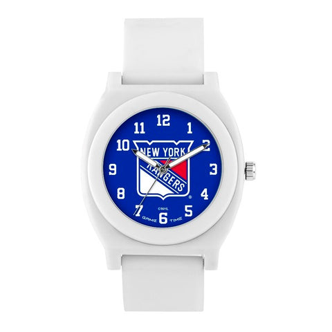 New York Rangers Analog Fan White Unisex Watch