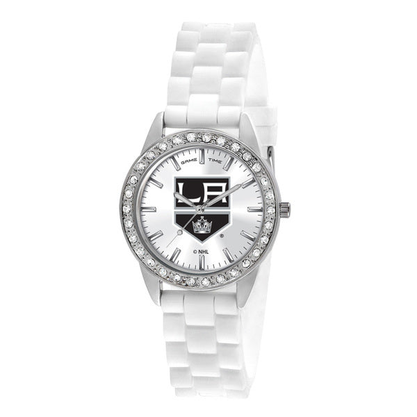 Los Angeles Kings Ladies Quartz Analog Watch With Silver Round Case White Strap 38Mm Frost