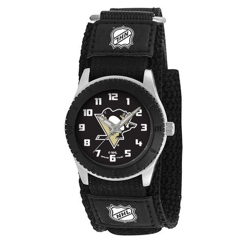 Pittsburgh Penguins Unisex Quartz Analog Silver Round Case Black Strap 30Mm Rookie Black