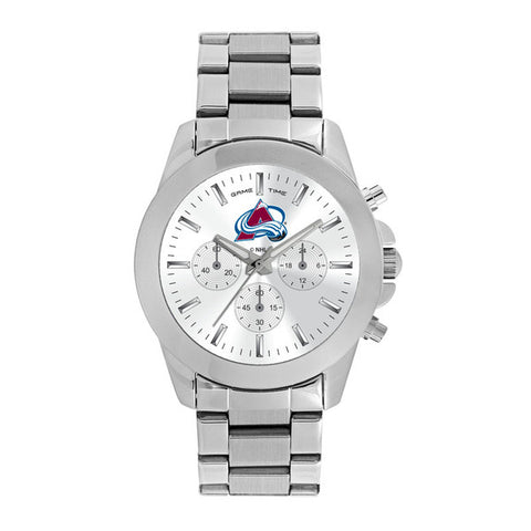 Colorado Avalanche Ladies Quartz Analog Silver Round Case Silver Bracelet 39Mm Knockout