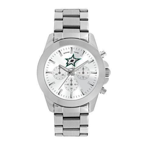 Dallas Stars Ladies Quartz Analog Watch With Silver Round Case Silver Bracelet 39Mm Knockout