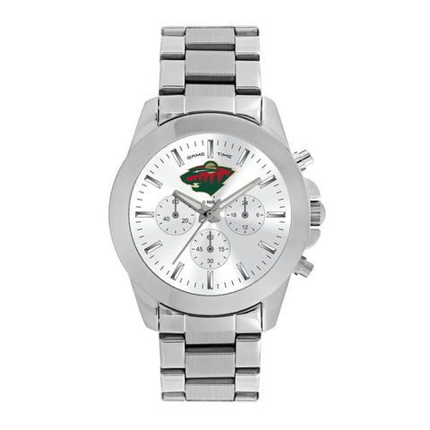 Minnesota Wild Ladies Quartz Analog Silver Round Case Silver Bracelet 39Mm Knockout