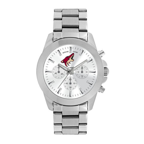 Arizona Coyotes Ladies Quartz Analog Silver Round Case Silver Bracelet 39Mm Knockout