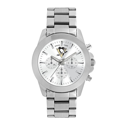 Pittsburgh Penguins Ladies Quartz Analog Silver Round Case Silver Bracelet 39Mm Knockout