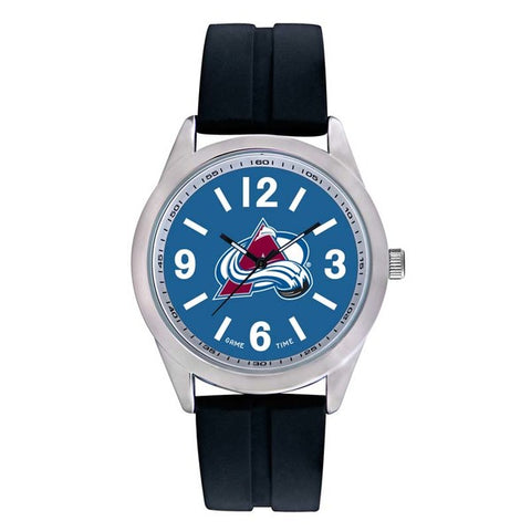 Colorado Avalanche Mens Quartz Analog Silver Round Case Black Strap 46.5Mm Varsity