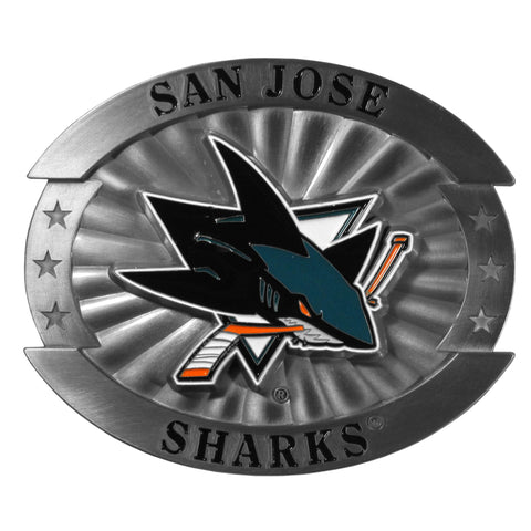 San Jose Sharks   Oversized Belt Buckle