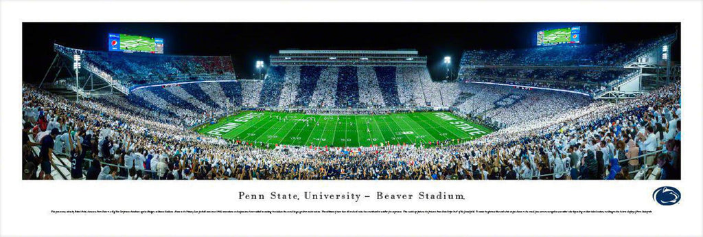 "Penn State Nittany Lions Football Stripe Unframed Panoramic Poster 13.5"" L x 40"" W"