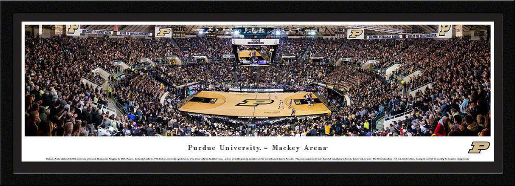 "Purdue Boilermakers Basketball Single Mat, Select Framed Panoramic Print 15.5"" L x 42"" W"