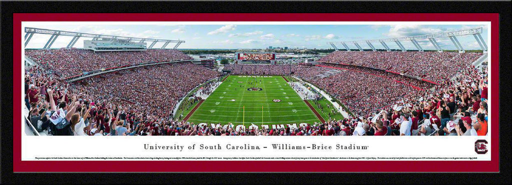 "South Carolina Gamecocks Football Single Mat, Select Framed Panoramic Print 15.5"" L x 42"" W"