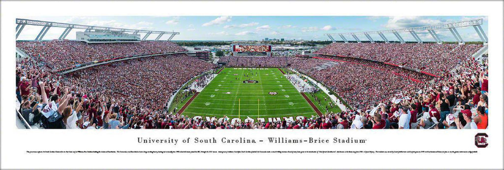 "South Carolina Gamecocks Football Unframed Panoramic Poster 13.5"" L x 40"" W"