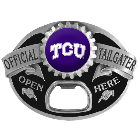 TCU Horned Frogs   Tailgater Belt Buckle