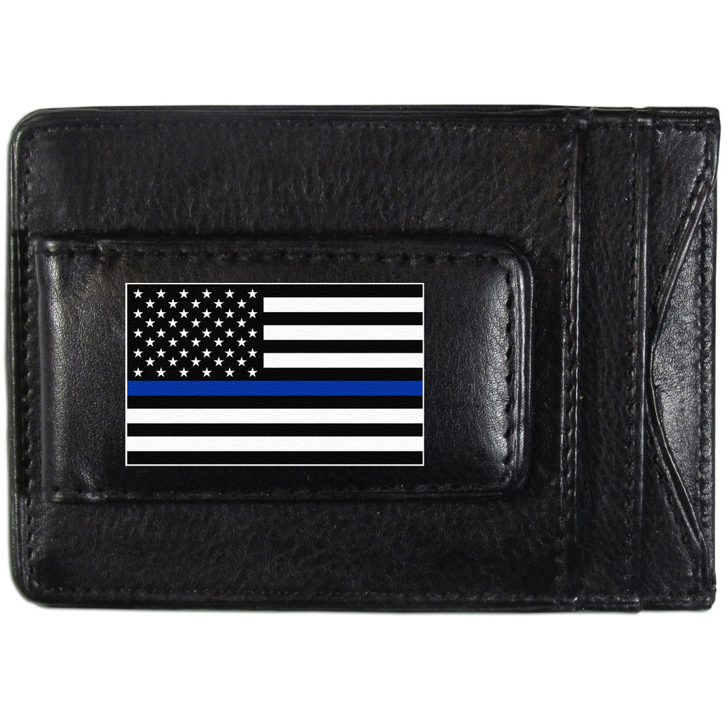 Air Force Falcons  Thin Blue Line  Flag Leather Cash and Cardholder