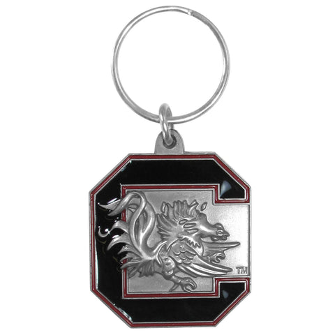 S. Carolina Gamecocks Carved Metal Key Chain