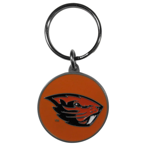 Oregon St. Beavers Carved Metal Key Chain