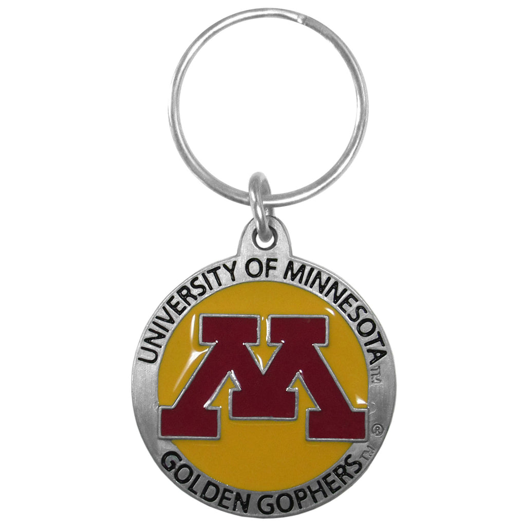 Minnesota Golden Gophers Carved Metal Key Chain