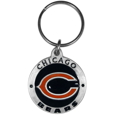 Chicago Bears   Carved Metal Key Chain