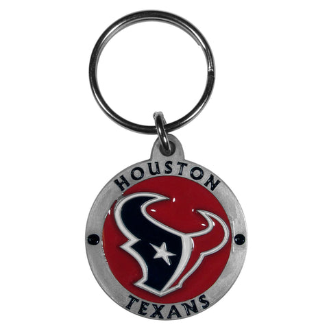 Houston Texans   Carved Metal Key Chain