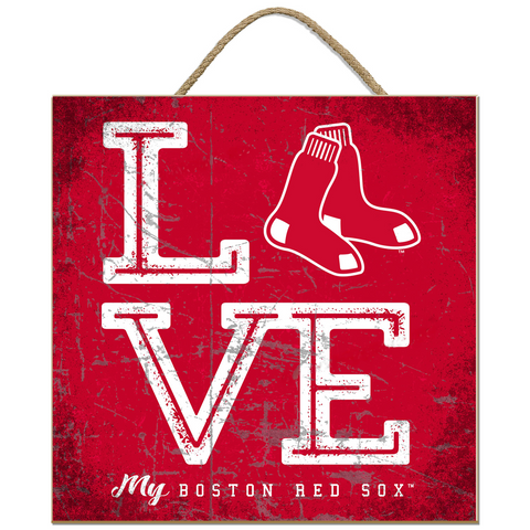 Boston Red Sox - LOVE MY TEAM SQUARE PLAQUE