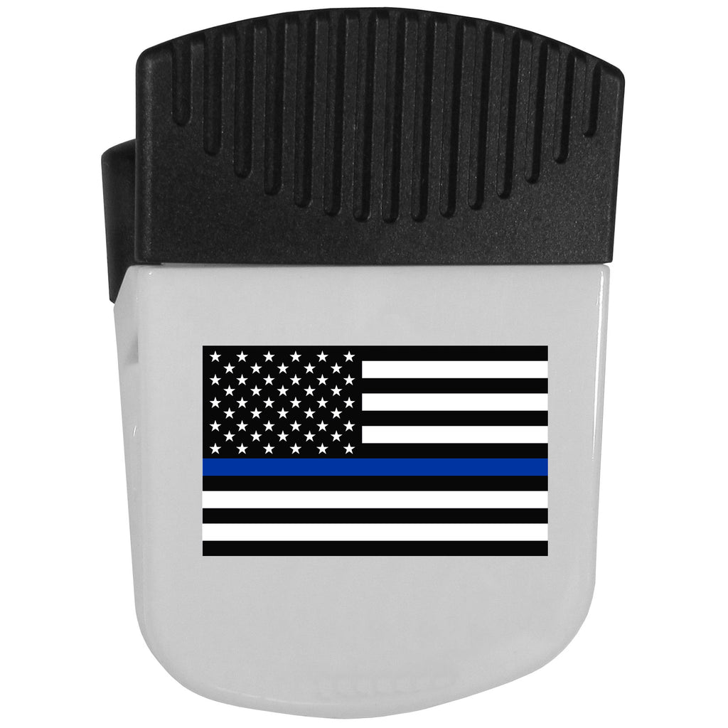 Air Force Falcons  Thin Blue Line  Flag Chip Clip Magnet With Bottle Opener