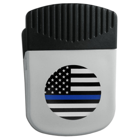 Air Force Falcons  Thin Blue Line  Flag Chip Clip Magnet