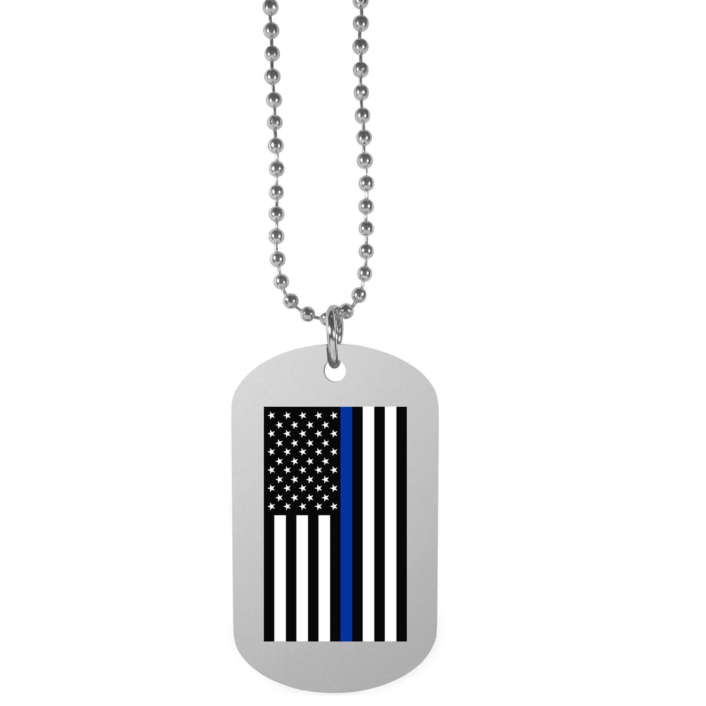 Air Force Falcons  Thin Blue Line  Flag Tag Necklace