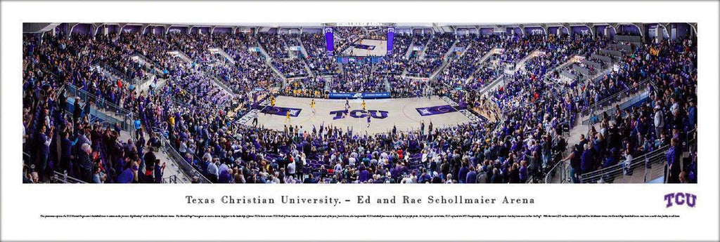 "TCU Horned Frogs Basketball Unframed Panoramic Poster 13.5"" L x 40"" W"