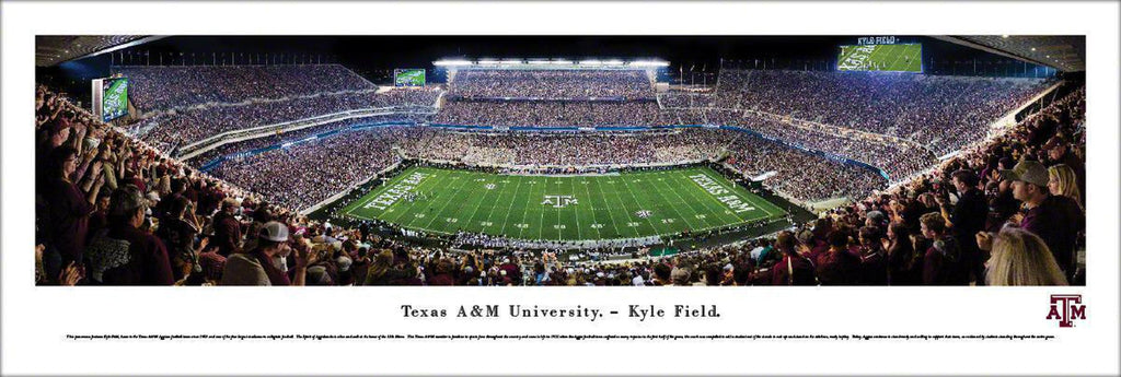 "Texas A&M Football Unframed Panoramic Poster 13.5"" L x 40"" W"