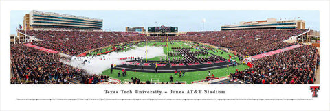 "Texas Tech Football Unframed Panoramic Poster 13.5"" L x 40"" W"