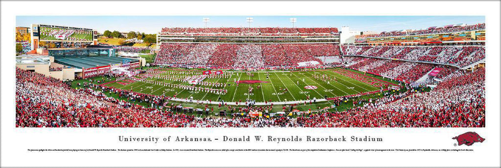 "Arkansas Razorback Football Stripe Unframed Panoramic Poster 13.5"" L x 40"" W"