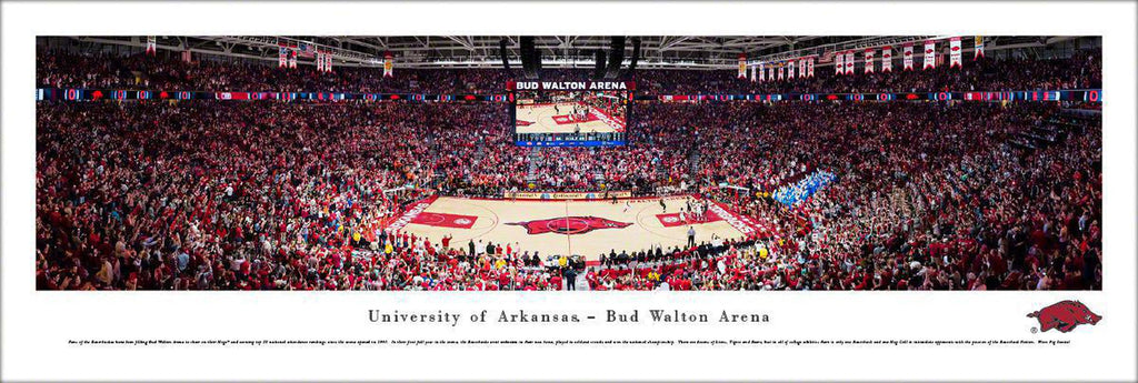 "Arkansas Razorbacks Basketball Unframed Panoramic Poster 13.5"" L x 40"" W"