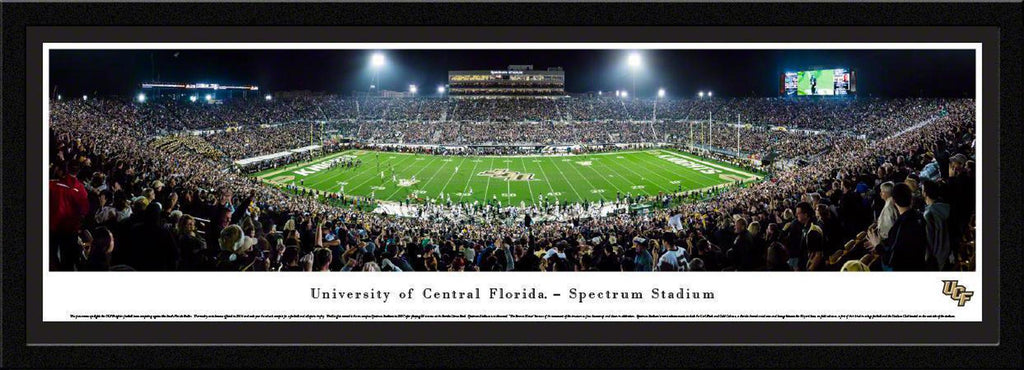 "Central Florida Knights Football 50 Yard Line Single Mat, Select Framed Panoramic Print 15.5"" L x 42"" W"
