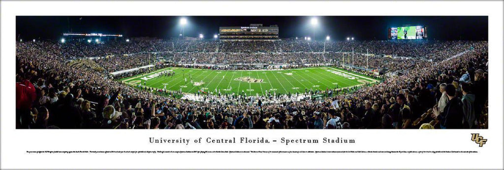 "Central Florida Knights Football 50 Yard Line Unframed Panoramic Poster 13.5"" L x 40"" W"