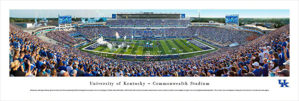 "Kentucky Wildcats Football Unframed Panoramic Poster 13.5"" L x 40"" W"