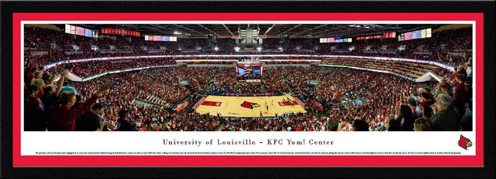 "Louisville Cardinals Basketball Single Mat, Select Framed Panoramic Print 15.5"" L x 42"" W"