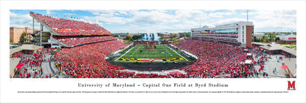 "Maryland Football Unframed Panoramic Poster 13.5"" L x 40"" W"