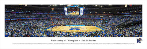 "Memphis Tigers Basketball Unframed Panoramic Poster 13.5"" L x 40"" W"