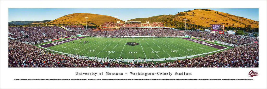 "Montana Grizzlies Football Unframed Panoramic Poster 13.5"" L x 40"" W"