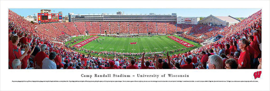 "Wisconsin Badger Football Unframed Panoramic Poster 13.5"" L x 40"" W"