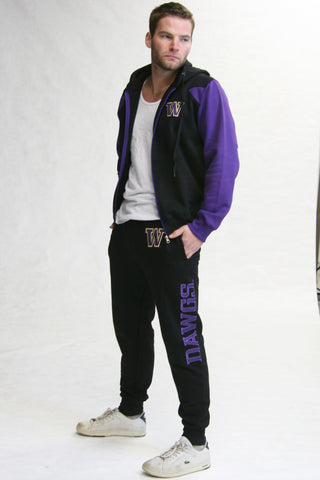 Washington Huskies Fleece Jogger Pant (Black)