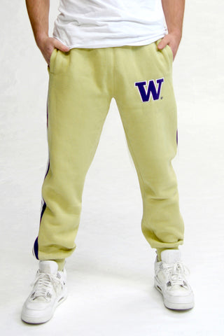 Washington Huskies Fleece Jogger Pant (Gold)