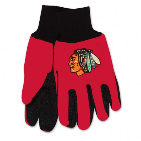 Chicago Blackhawks - Adult Two-Tone Sport Utility Gloves