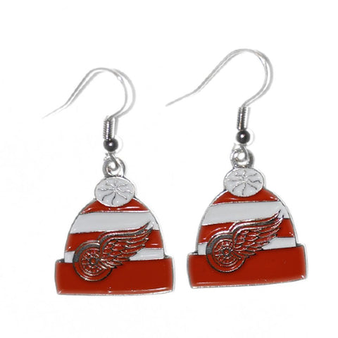 Detroit Red Wings - Knit Hat Earrings