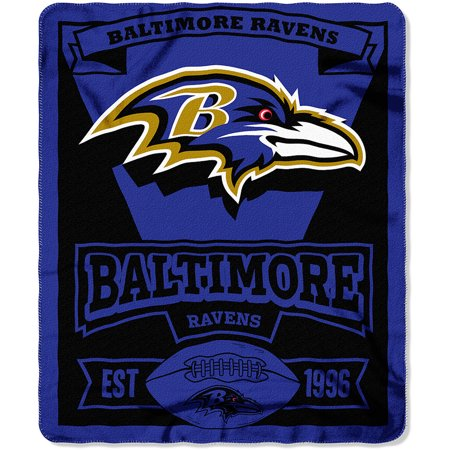 Baltimore Ravens Marquee Logo Lightweight Fleece Blanket