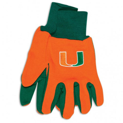 Miami Hurricanes - Adult Two-Tone Sport Utility Gloves