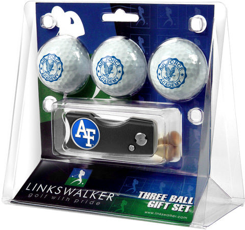 Air Force Falcons Spring Action Divot Tool 3 Ball Gift Pack