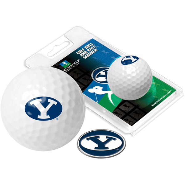 Brigham Young Univ. Cougars Golf Ball One Pack with Marker