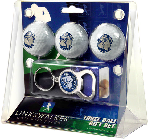Georgetown Hoyas 3 Ball Gift Pack with Key Chain Bottle -  Opener