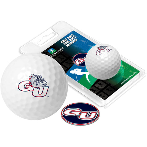 Gonzaga Bulldogs Golf Ball One Pack with Marker